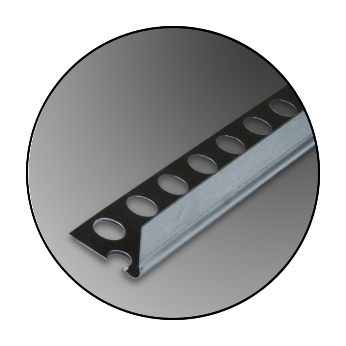 Coltar de aluminiu cu unghi de 90°  13x23mm